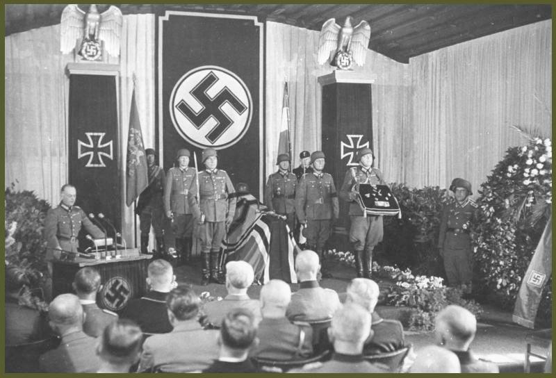 18 October 1944 Marshall von Rundstedt speech for Rommel funeral