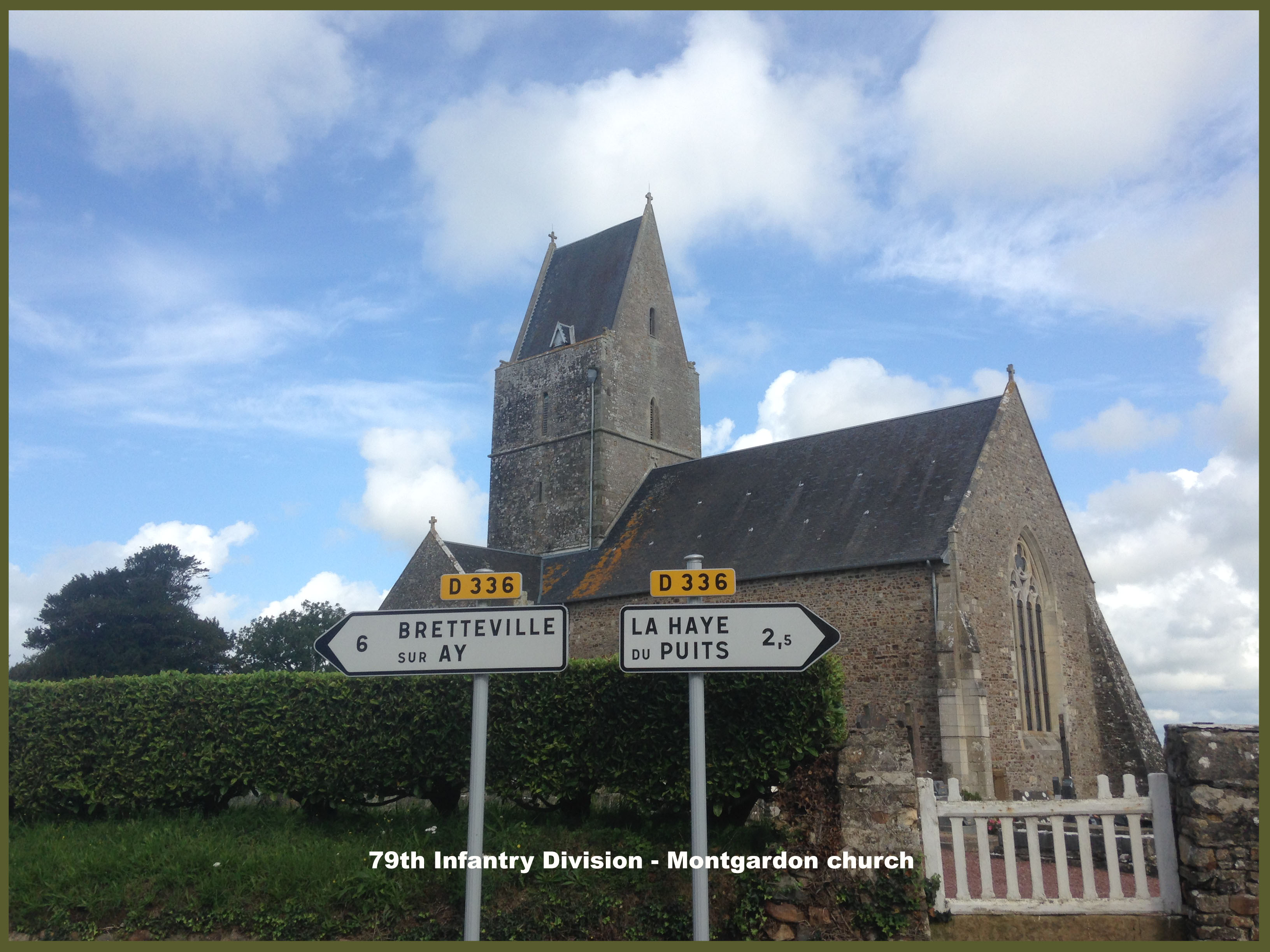 79th Infantry Division Montgardon church Bloody hill copy