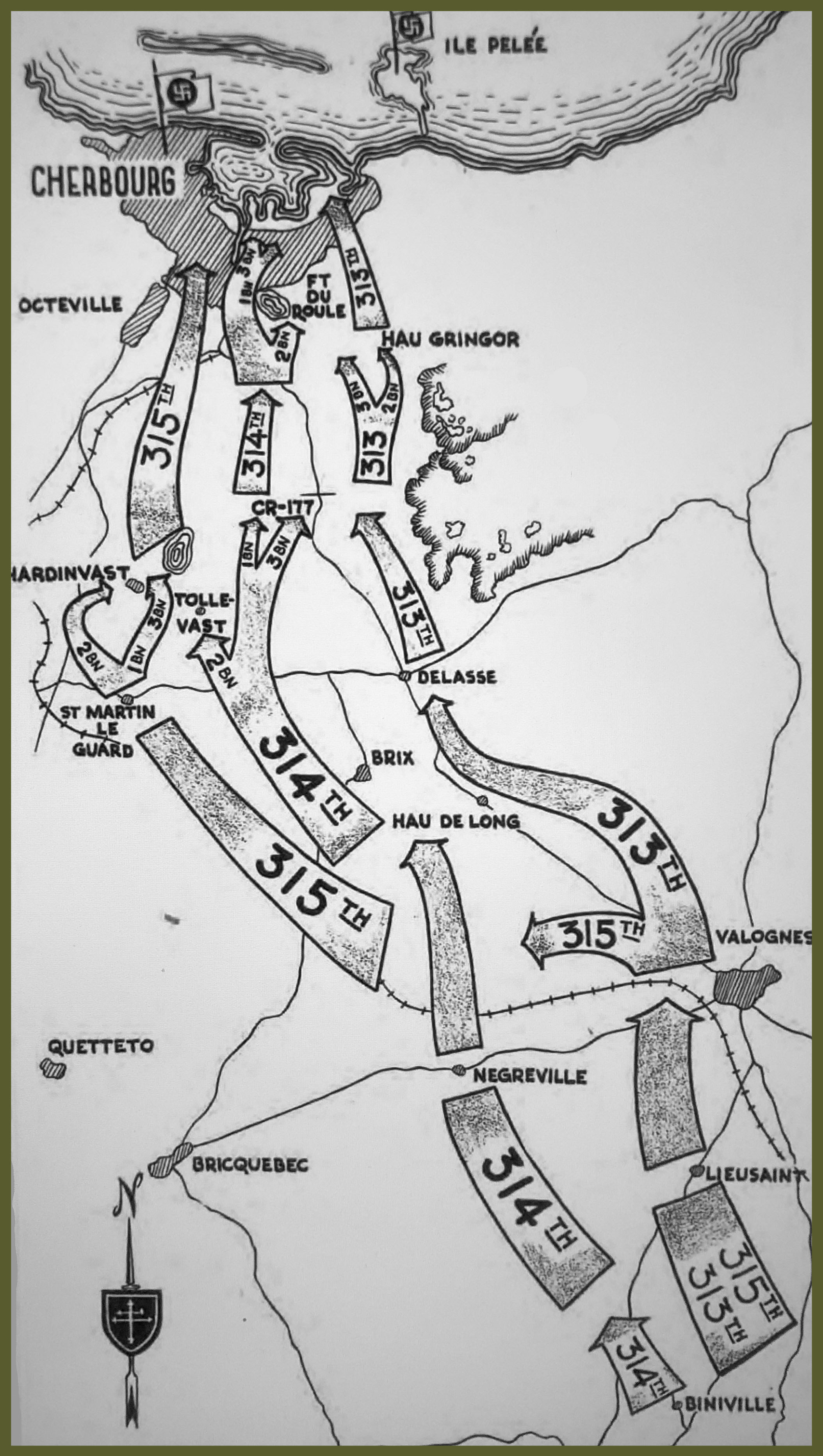 79th infantry division route to Cherbourg copy