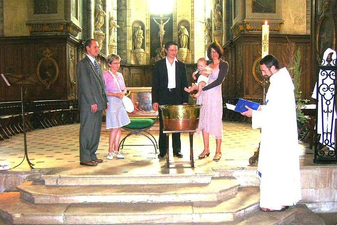 Abbey of Mondaye baptism.jpg