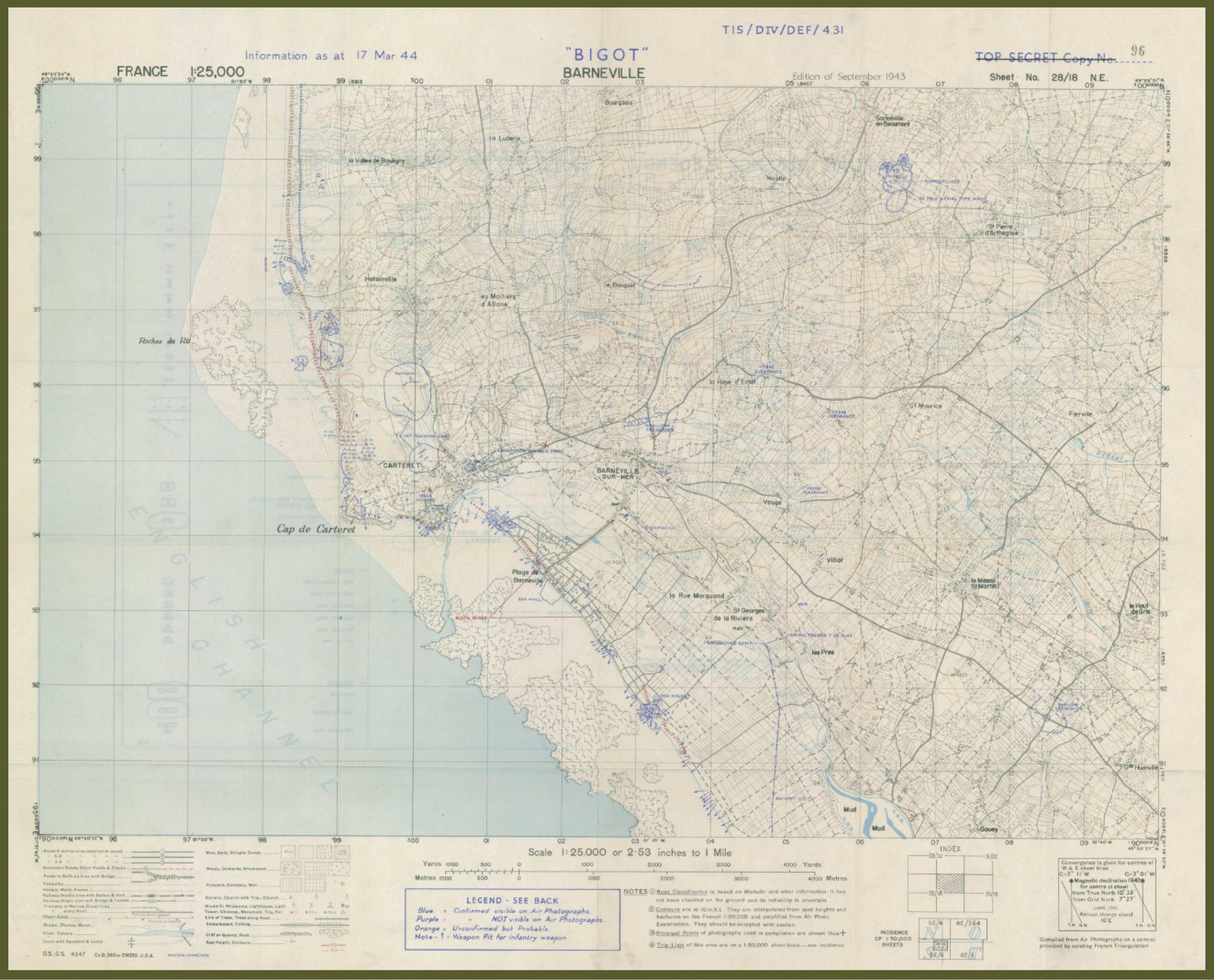 Defense map Barneville Bigot
