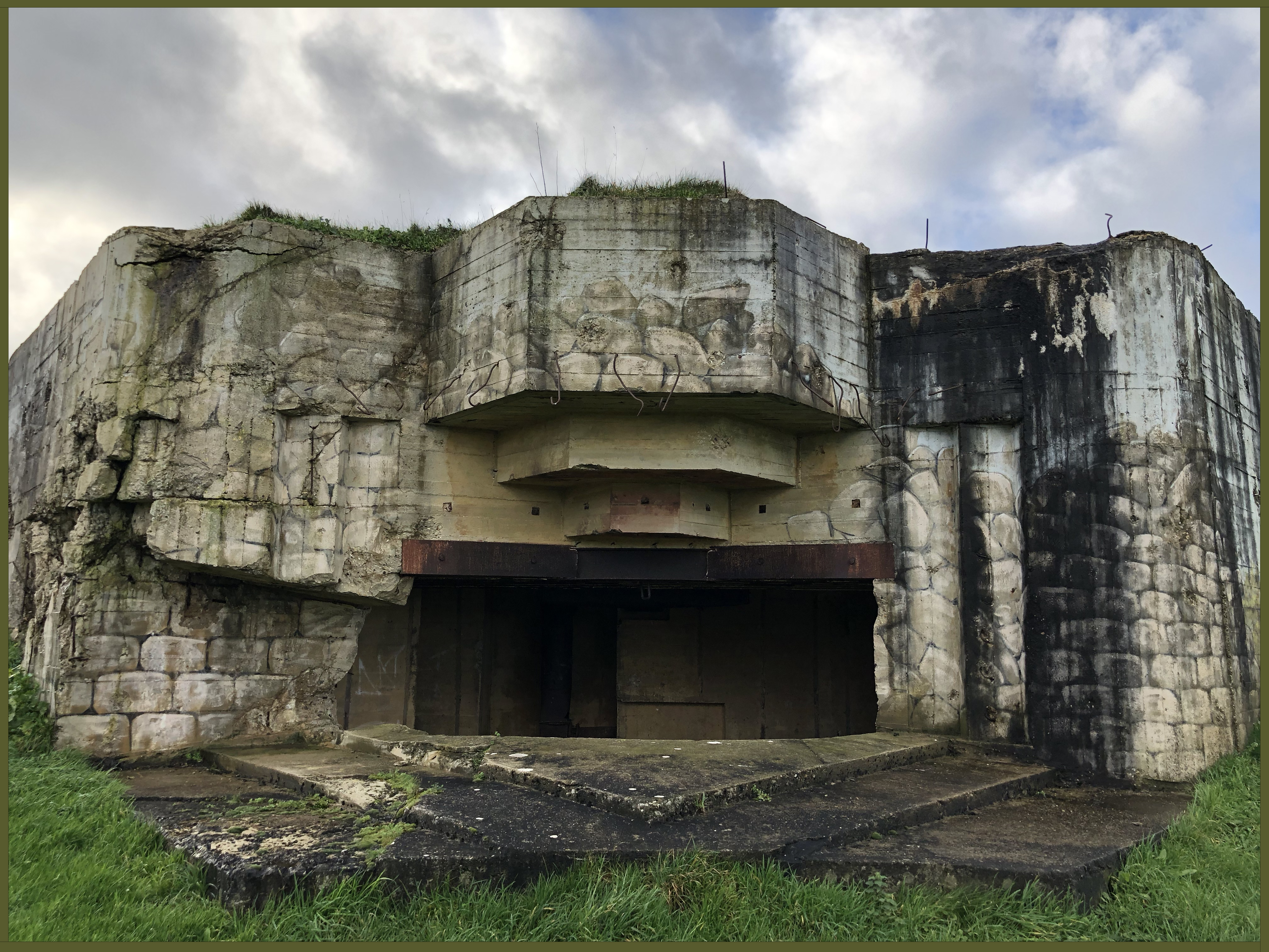 Front of bunker