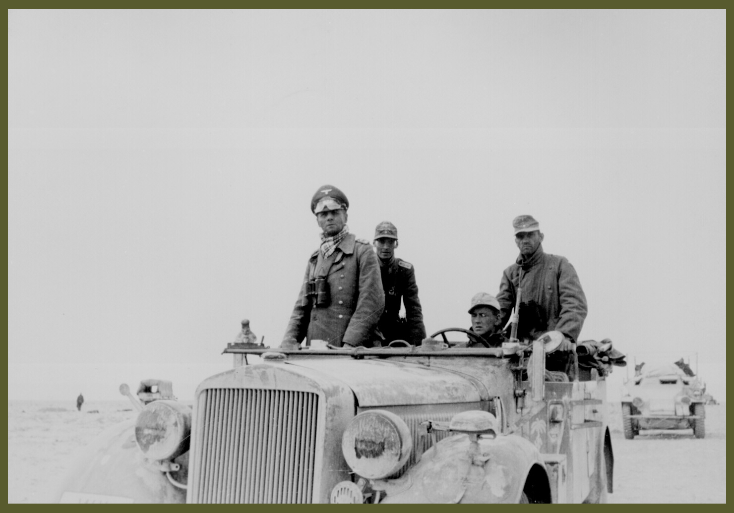 Gen. Erwin Rommel with the 7th Panzer Division between Tobruk and Sidi Omar Lybia 1941