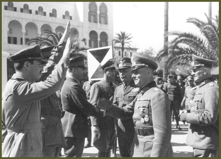 12 february 1941 in Tripoli Rommel and General Gariboldi