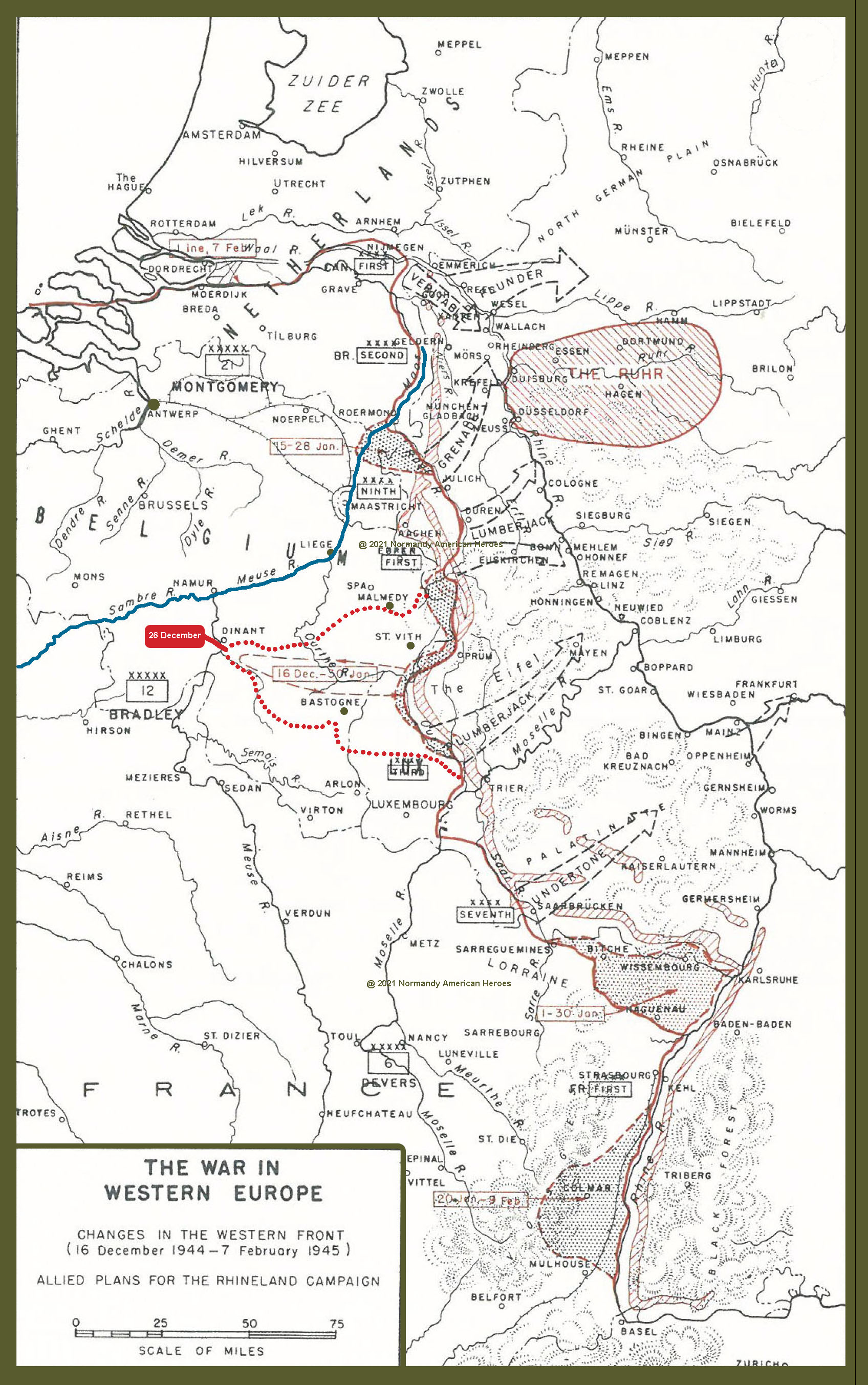 16 December 1944 ot 7 February 1945 Allied plans for the Rhineland campaign