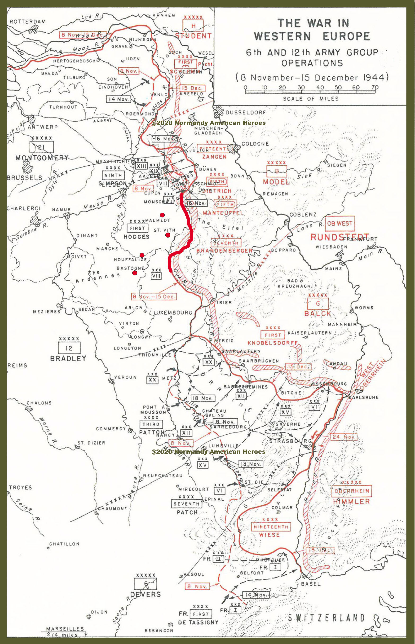 8 November to 15 December 1944 6th and 12th Amry Group Opeations