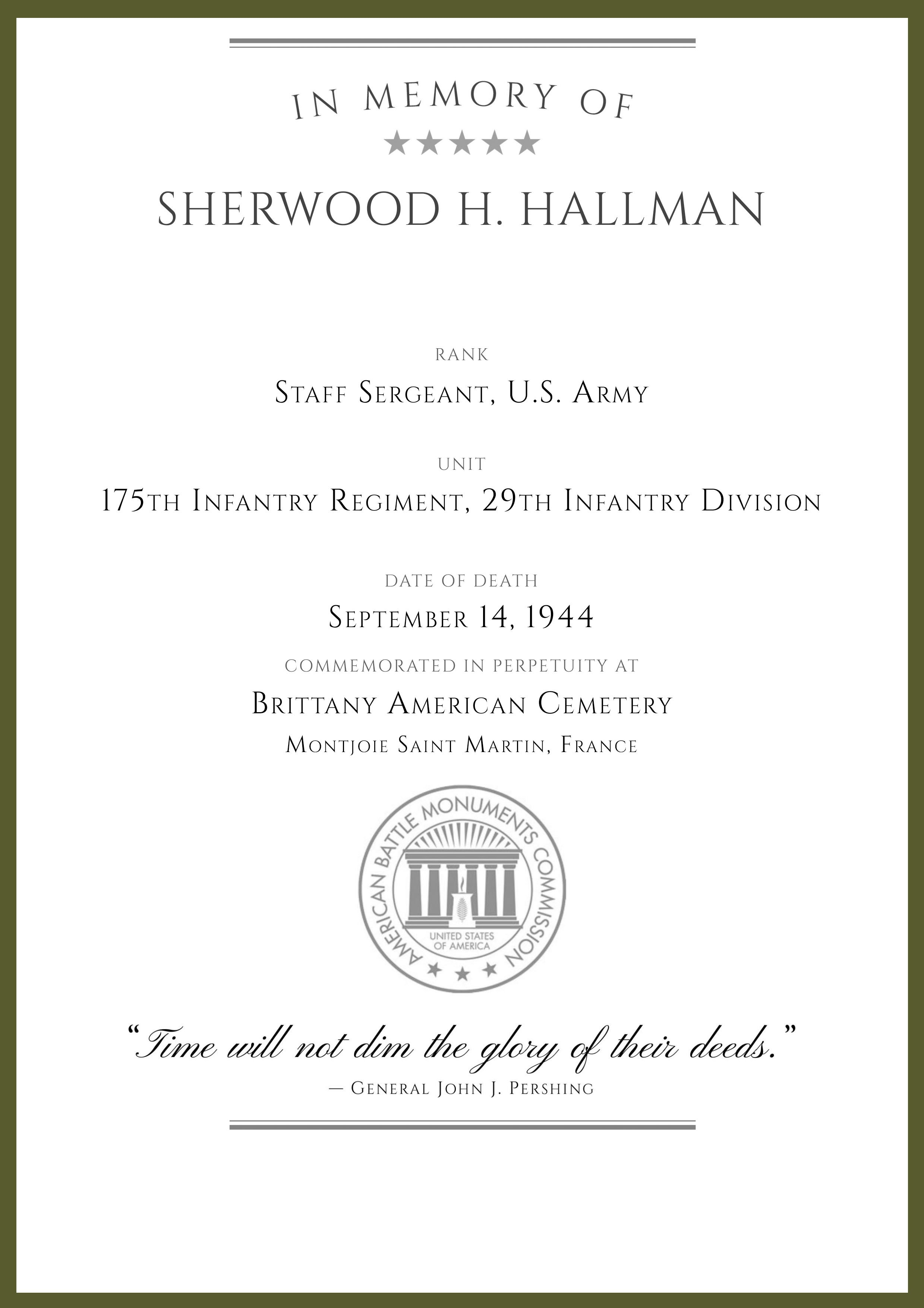 ABMC War Dead Certificate Sergeant Hallman-1