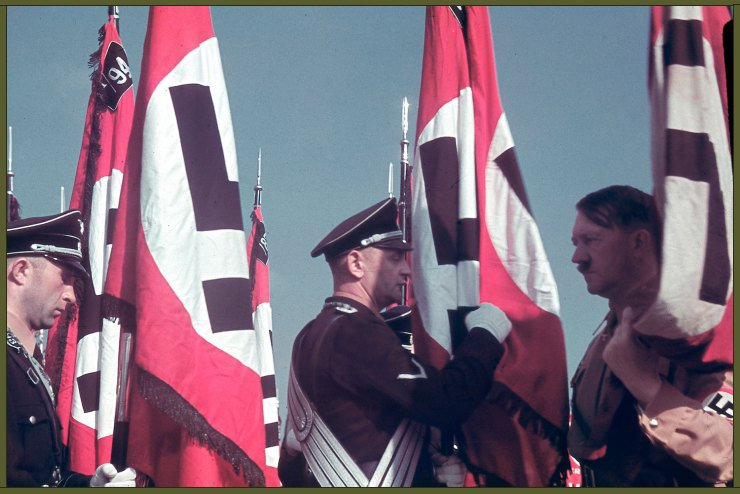 Adolf Hitler at the swearing-in of SS standard bearers at the Reich Party Congress, Nuremberg copy