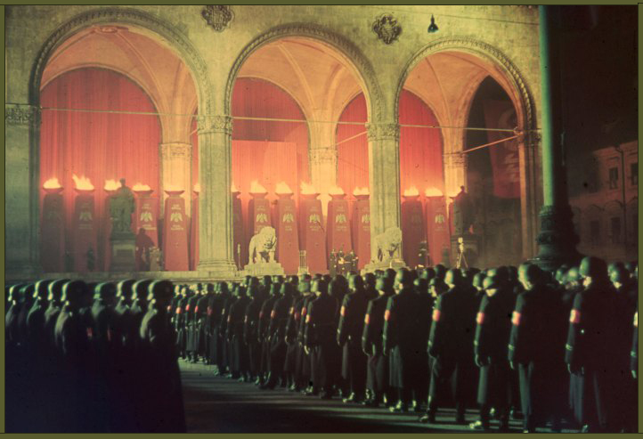 Annual midnight swearing-in of SS troops at Feldherrnhalle, Munich, 1938 copy