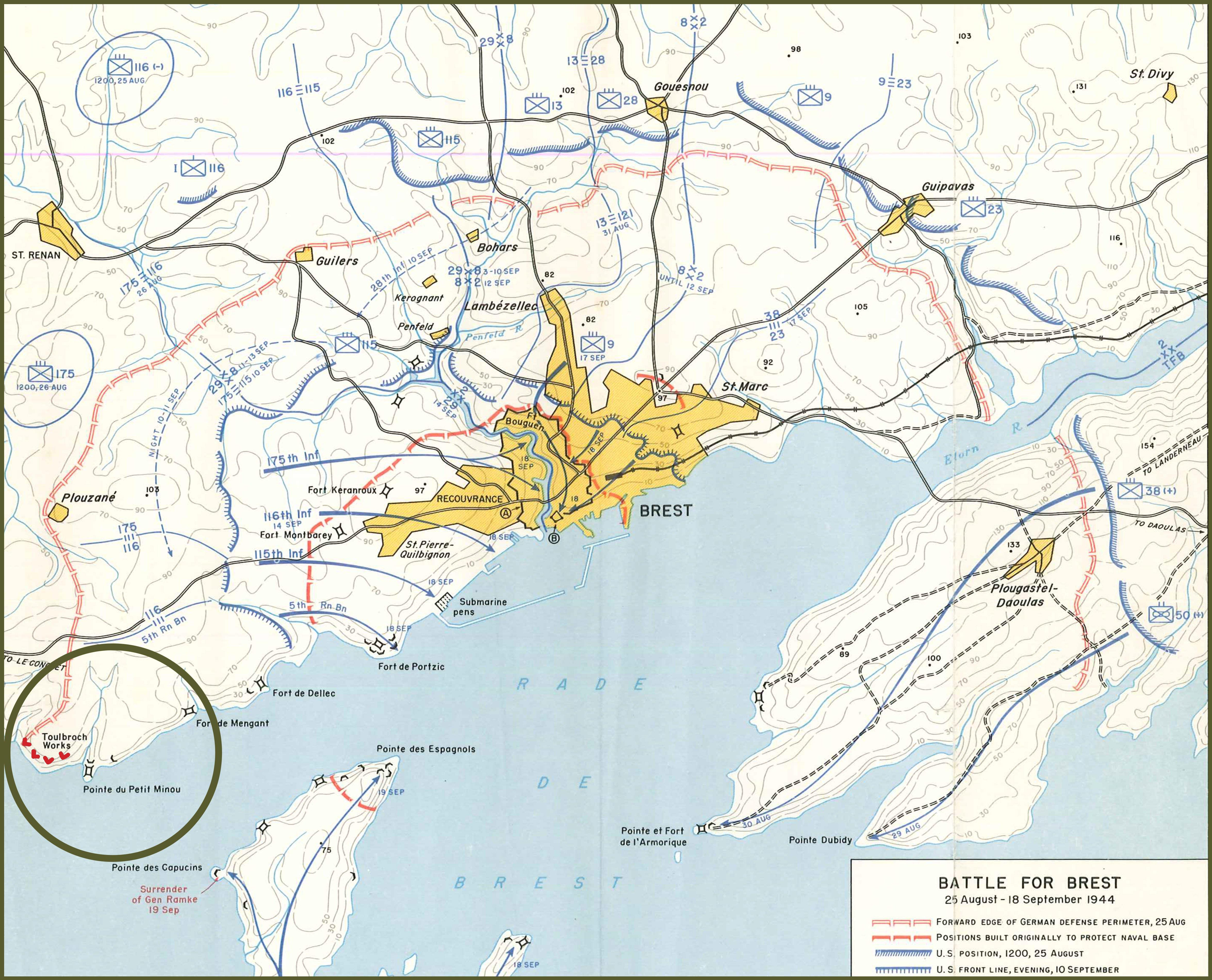 Battle for Brest 25 august to 18 september 1944