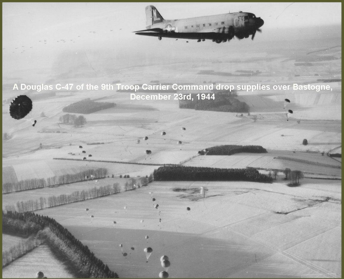 C47 drop supplies 23 december 1944
