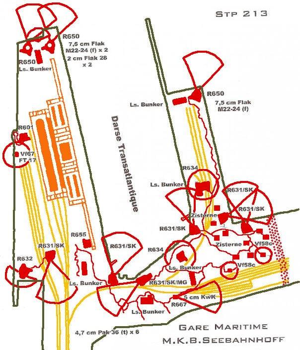 Cite de la Mer German defenses map copy