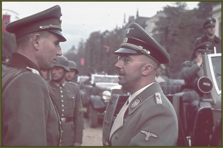 Head of the SS Heinrich Himmler, one of the chief architects of the Holocaust, in Warsaw after German invasion of Poland, 1939 copy