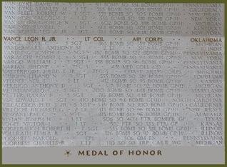 Lieutenant Colonel Vance MIA Medal of Honor