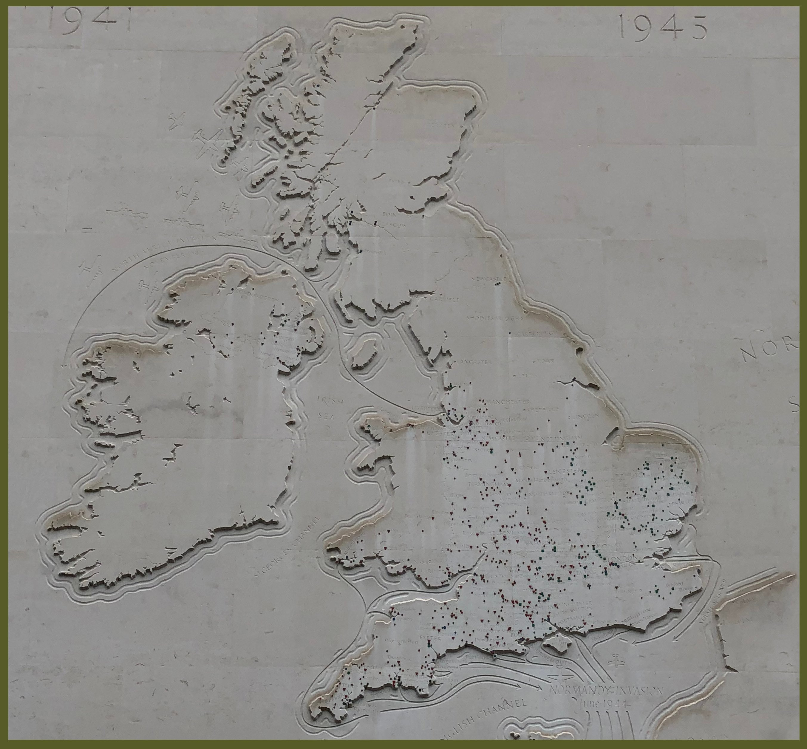 MAP UNITED STATES SITES IN ENGLAND
