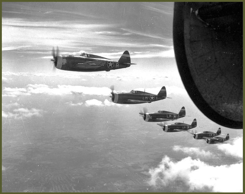 Operation Pointblank P-47 Thunderbolts