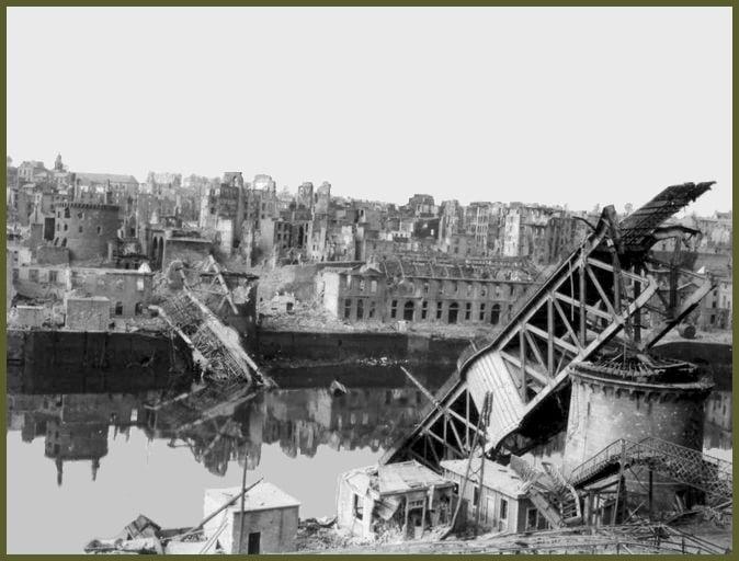 Recouvrance, le quartier intra-muros de la rive gauche dévasté