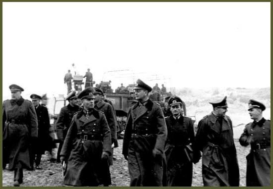 Rommel inspect Atlantic wall