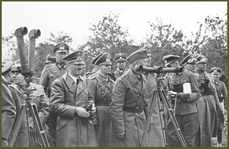Rommel with Hitler in Poland, September 1939