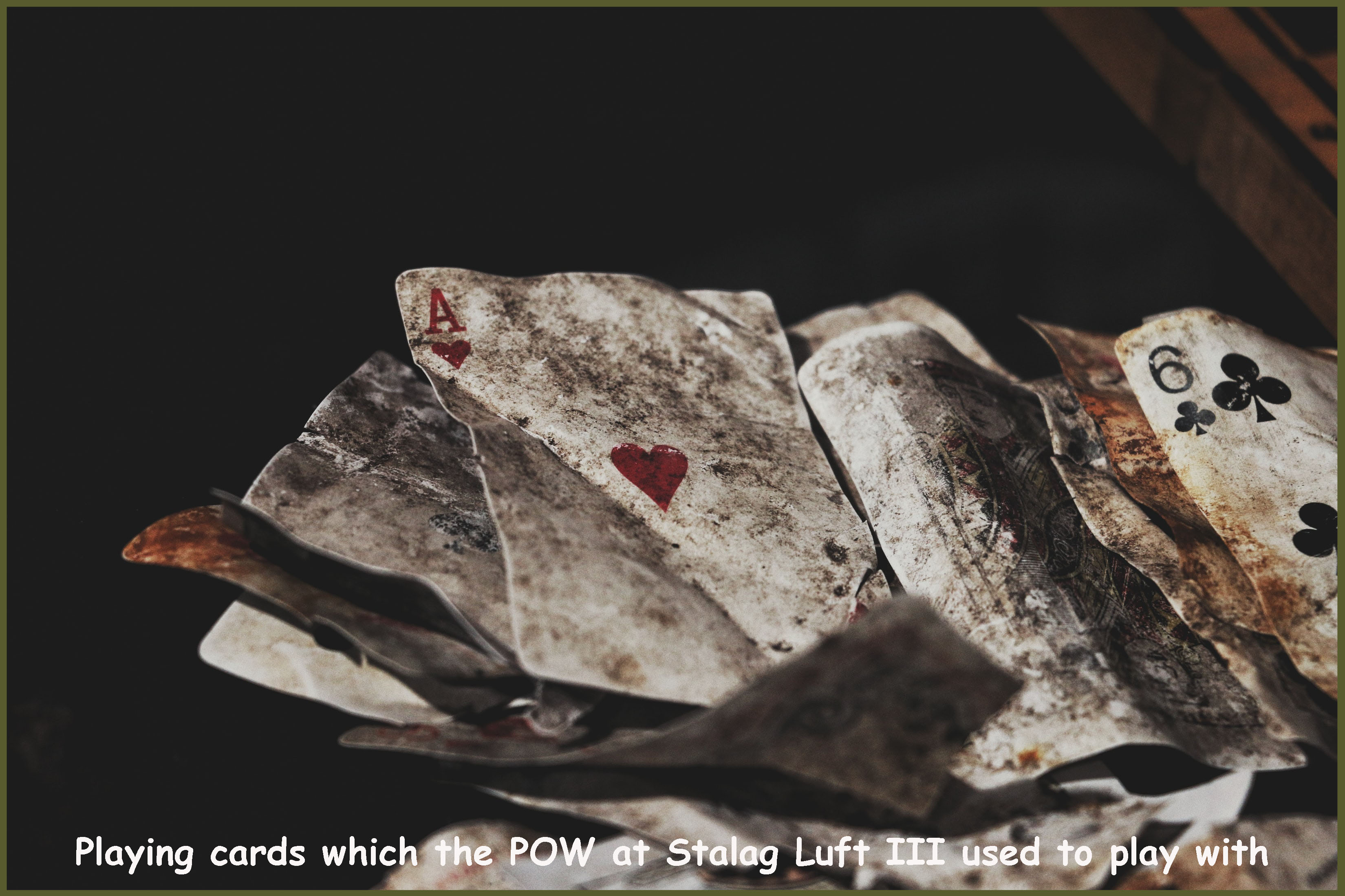 These were the card which the soldiers held captive in Stalag Luft III in Zagan, Poland played with