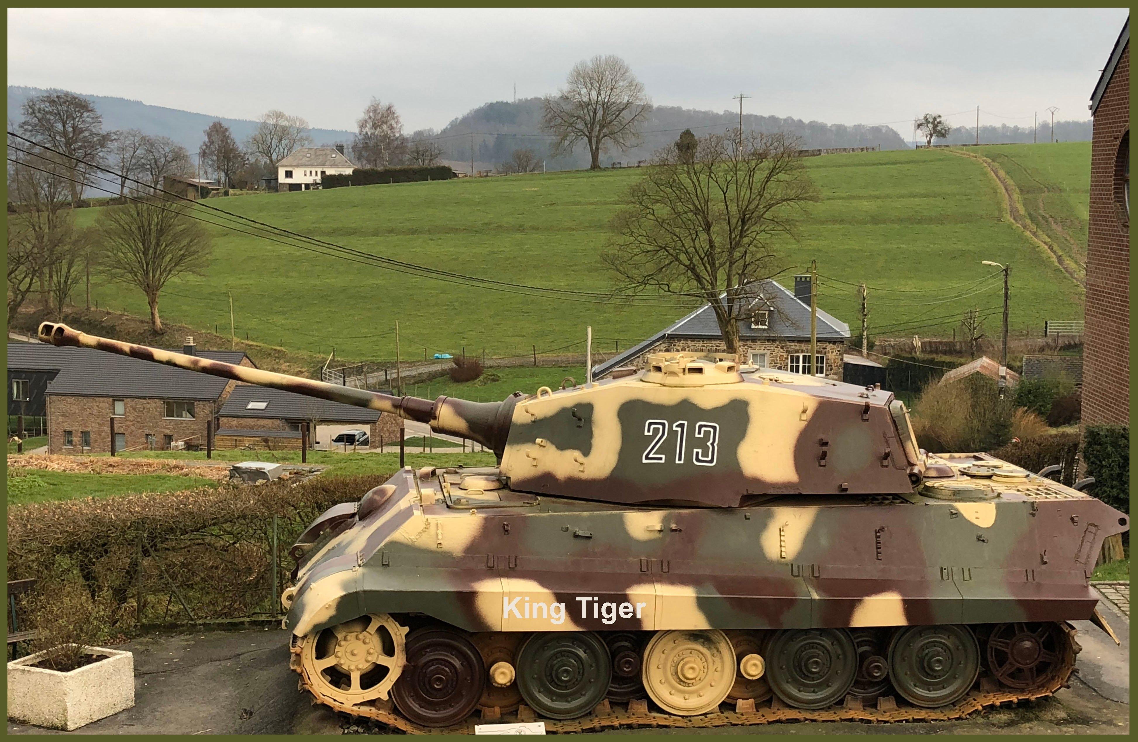 Tiger tank from church