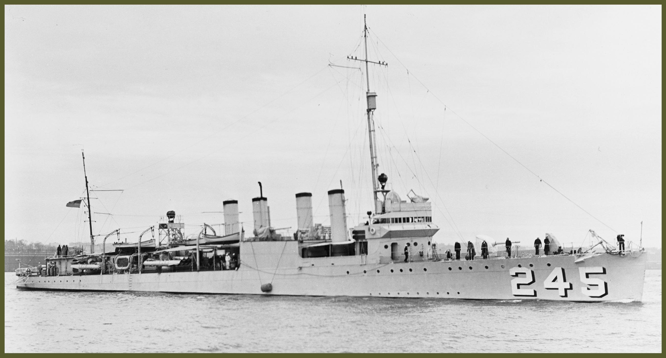 USS Reuben James 1939