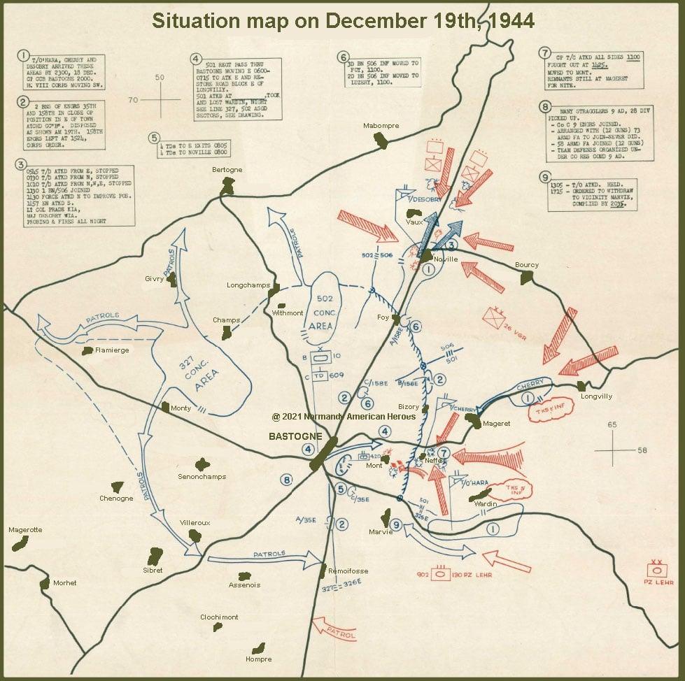 situation map 19 december 1944