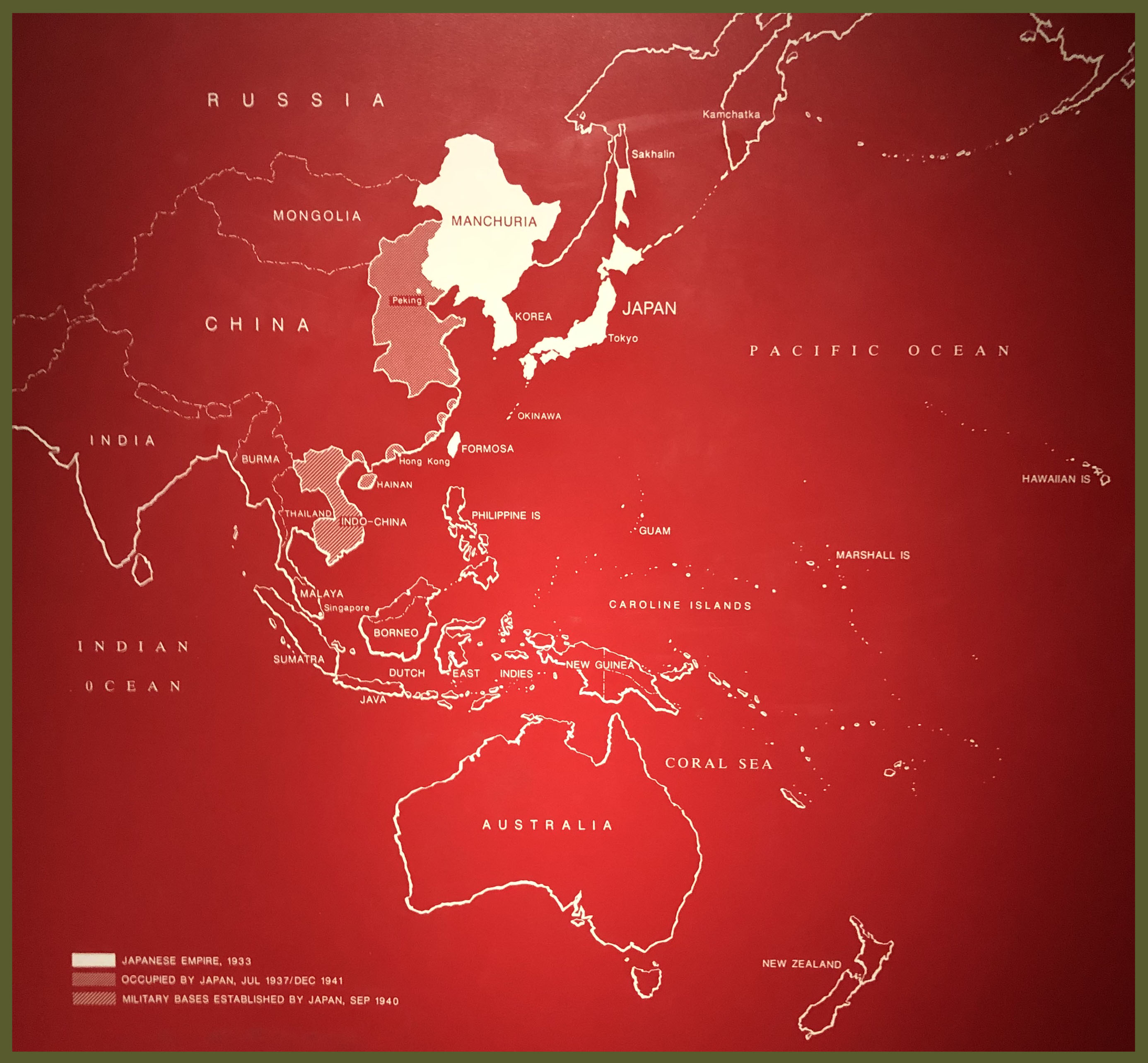 Map Greater East Asia Co-prosperity sphere
