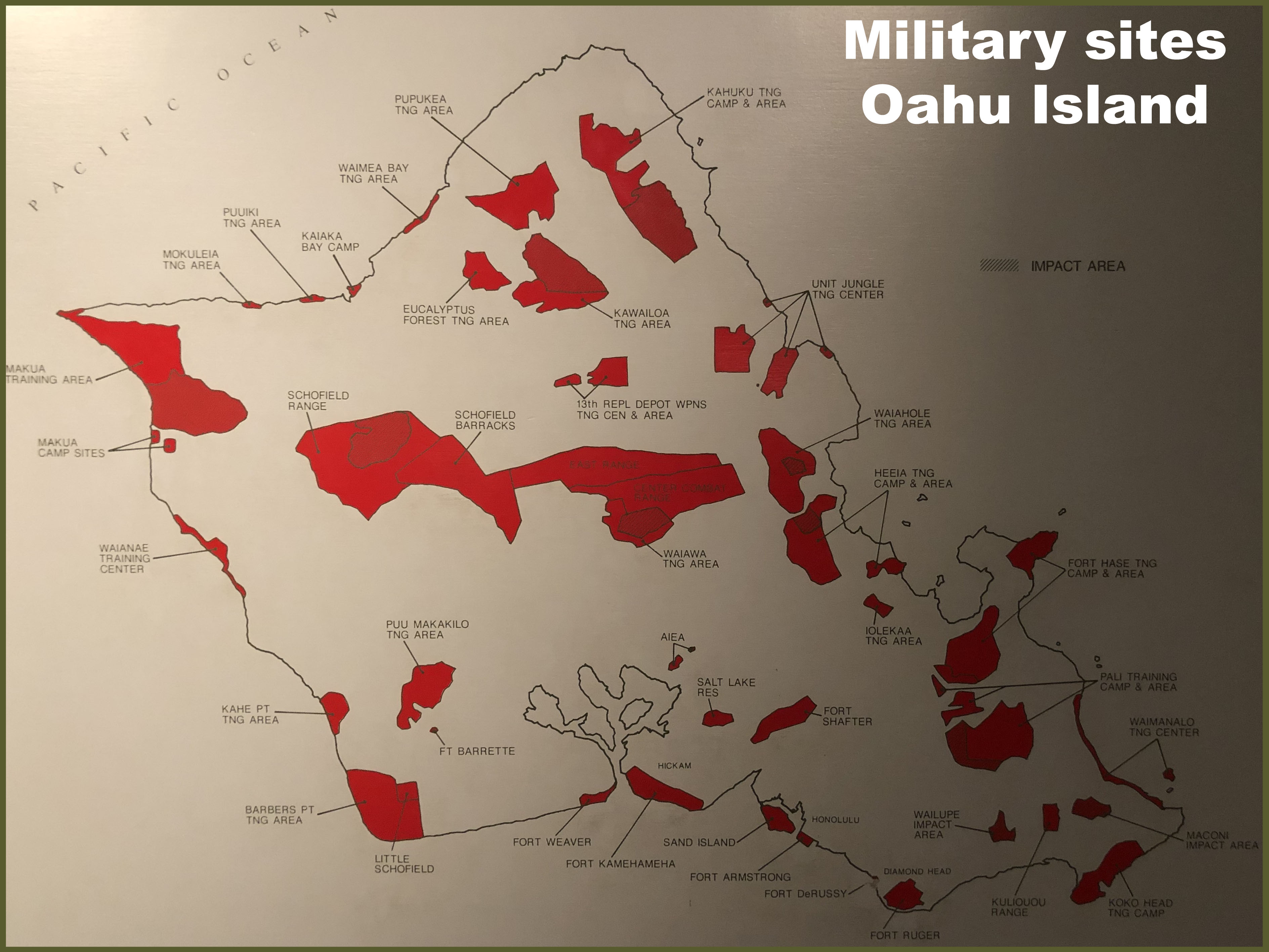 Map military base oahu second choice