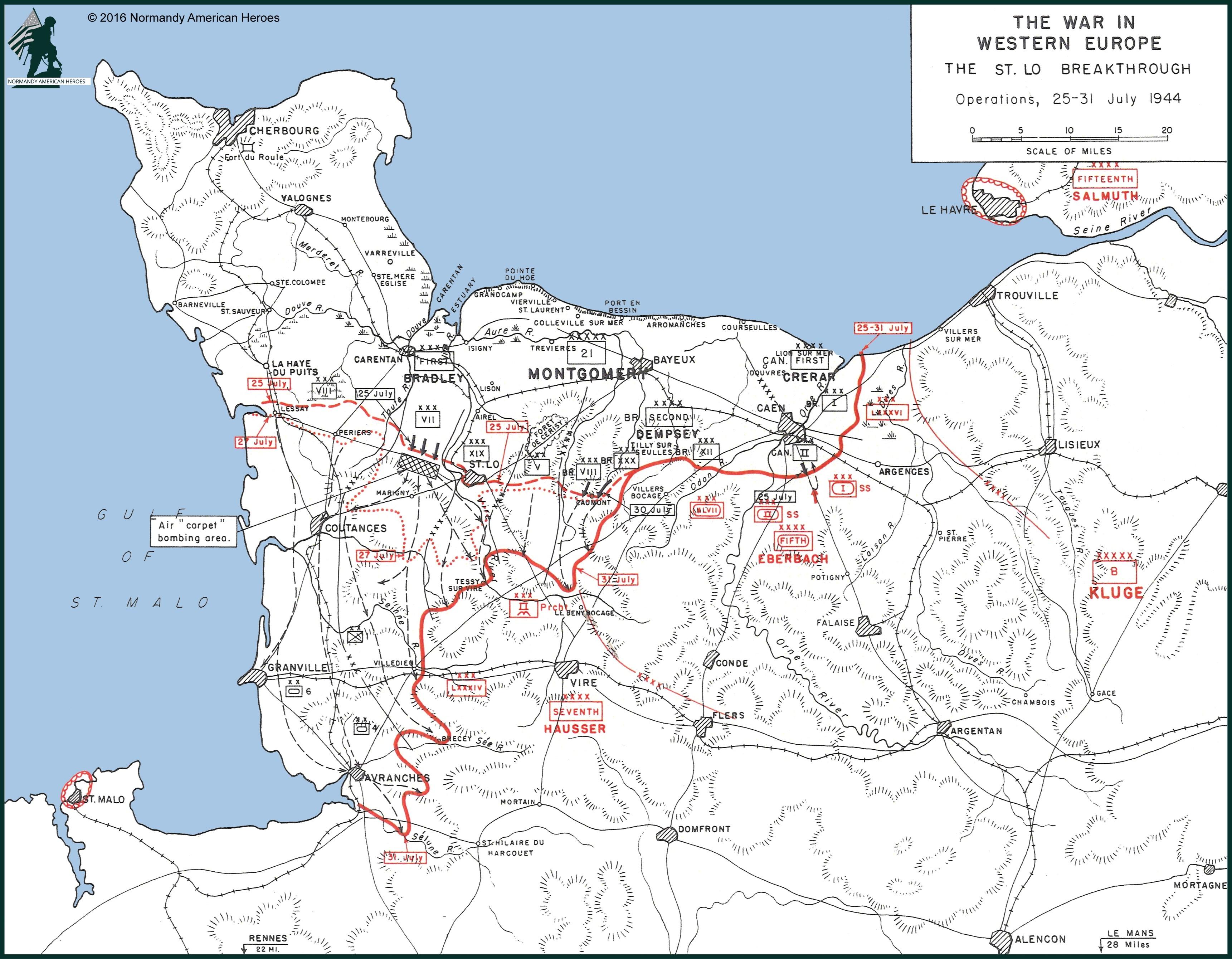 normandy france tour map