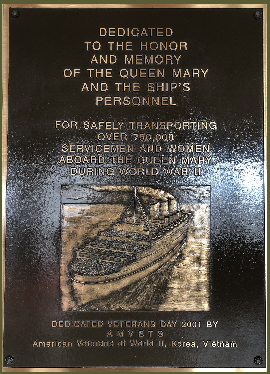 Queen Mary plaque