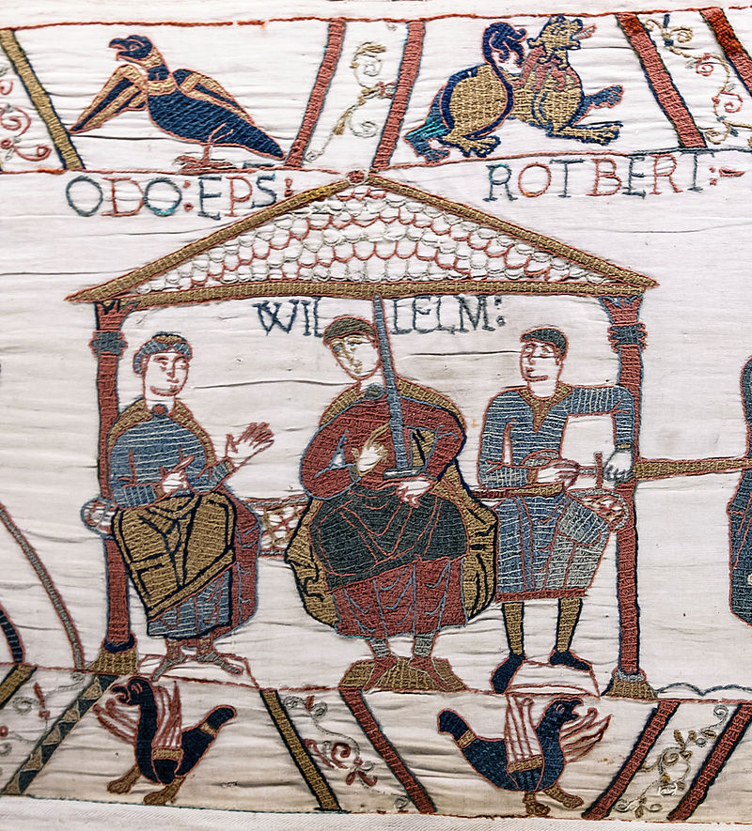 Tapestry of Bayeux scene 44 Odon de Conteville.jpg
