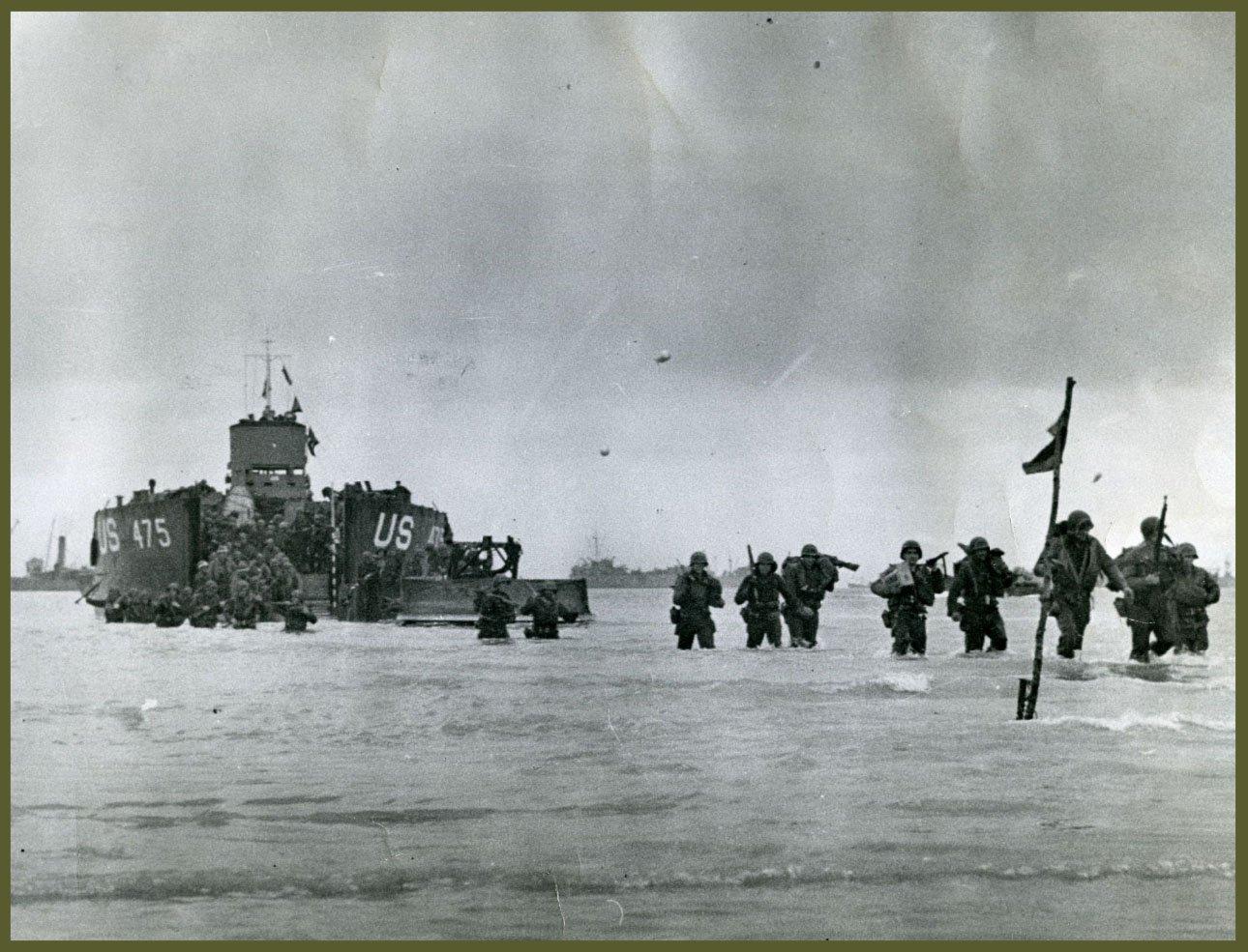 Troops land at Utah beach