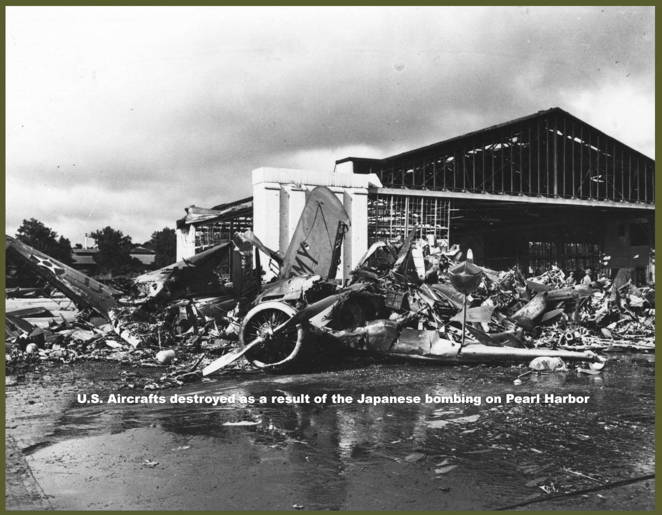U.S. Aircraft Destroyed as a Result of the Japanese Bombing on Pearl Harbor