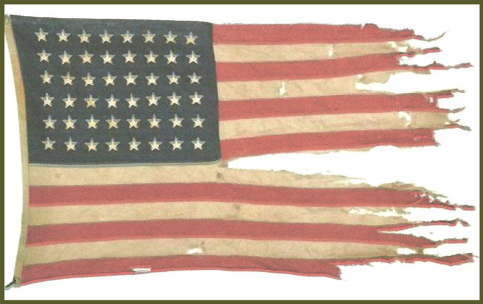 USS LCI 489 D-Day flag