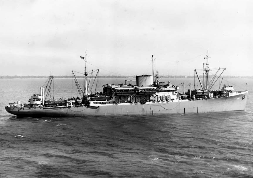 USS_Charles_Carroll_(APA-28)_in_Hampton_Roads,_6_May_1943_(80-G-66352)