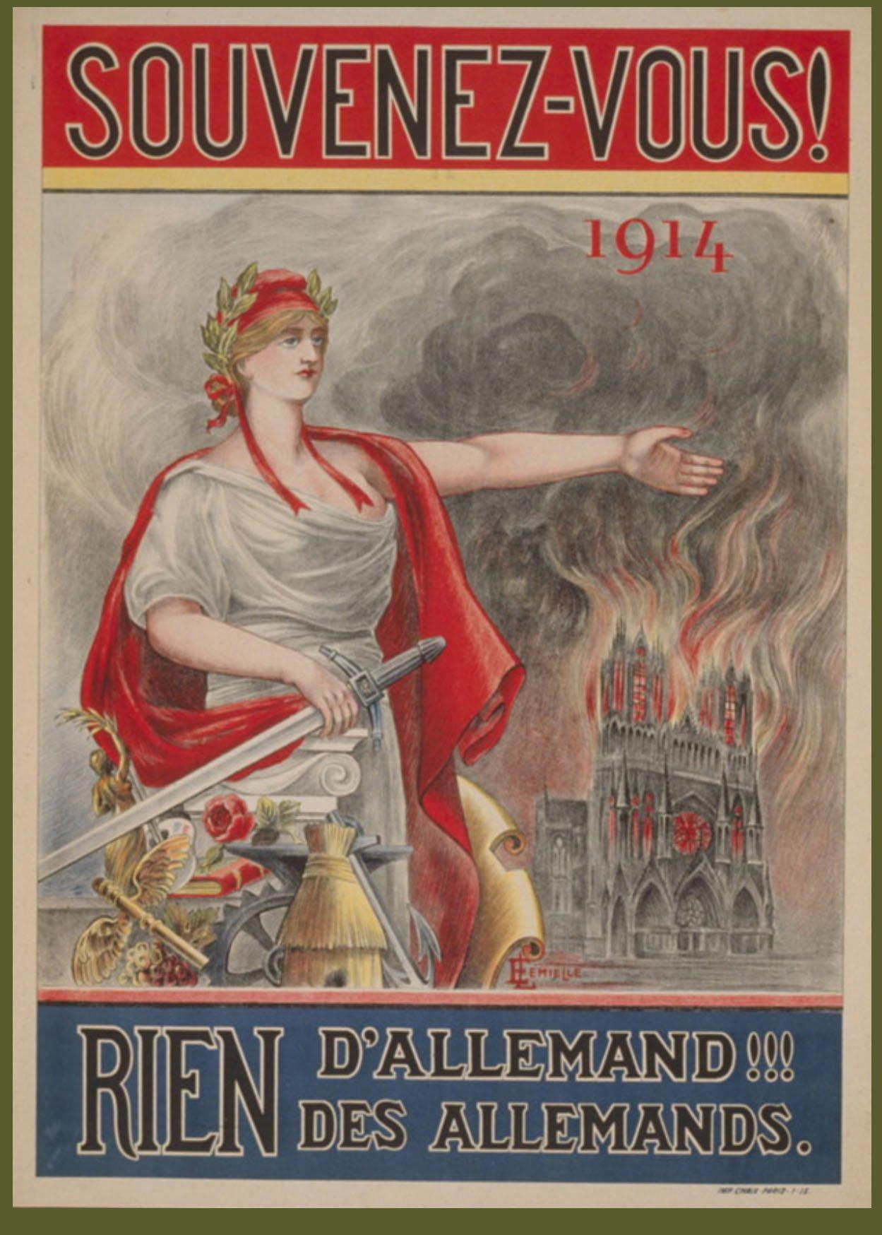 WWI poster souvenez vous