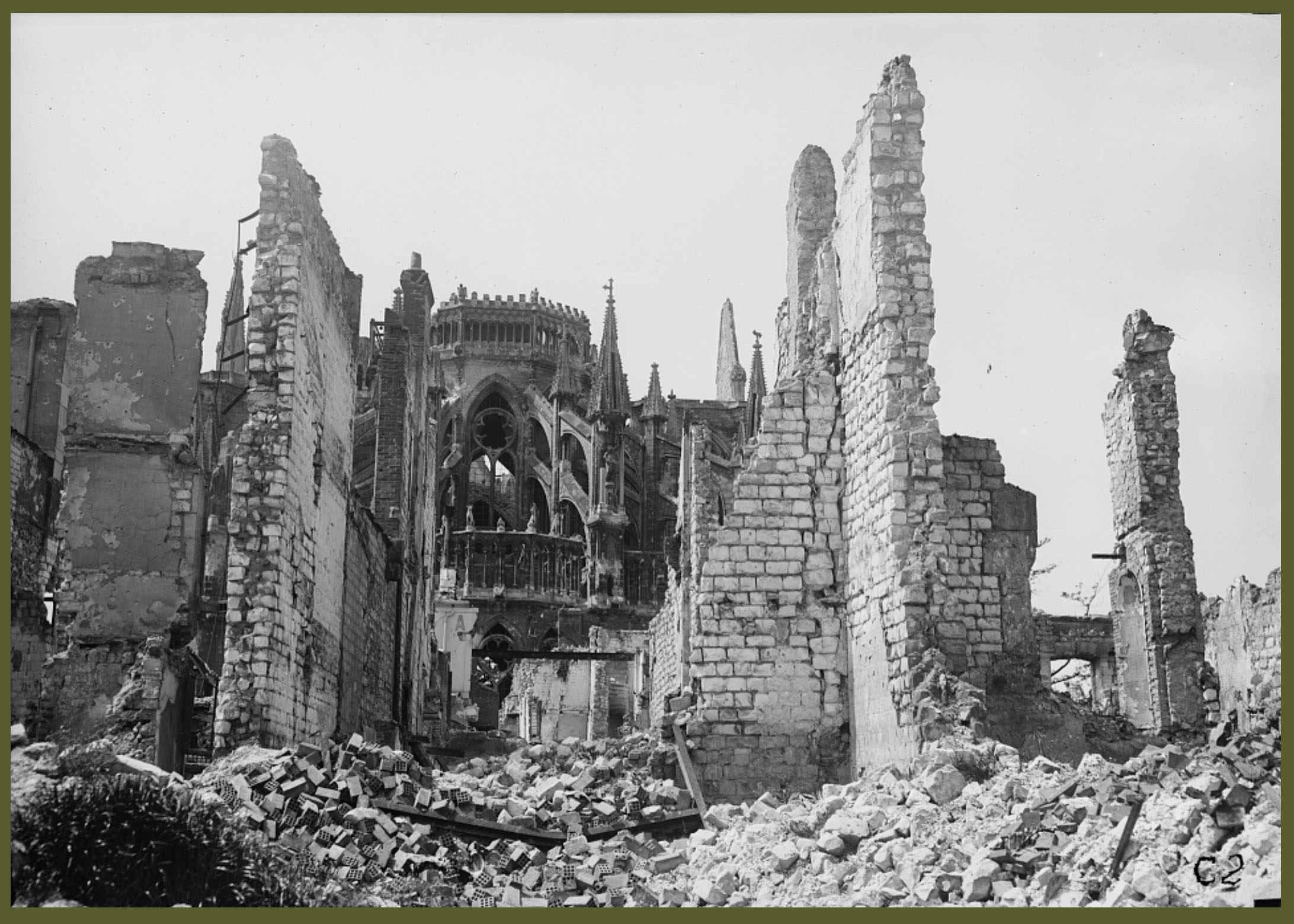 WWI rear view cathedral 1919