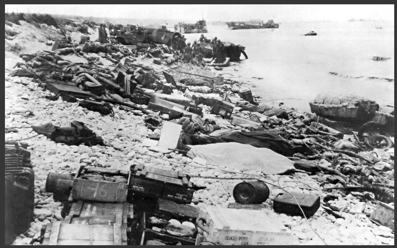 Wreckage after Dday copy